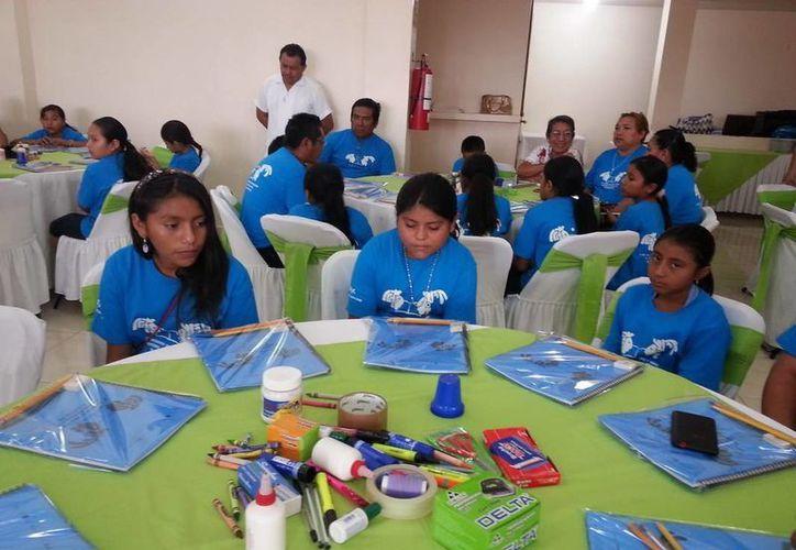 Los niños y niñas indígenas mayahablantes participarán en el encuentro que durará tres días. (Cortesía)