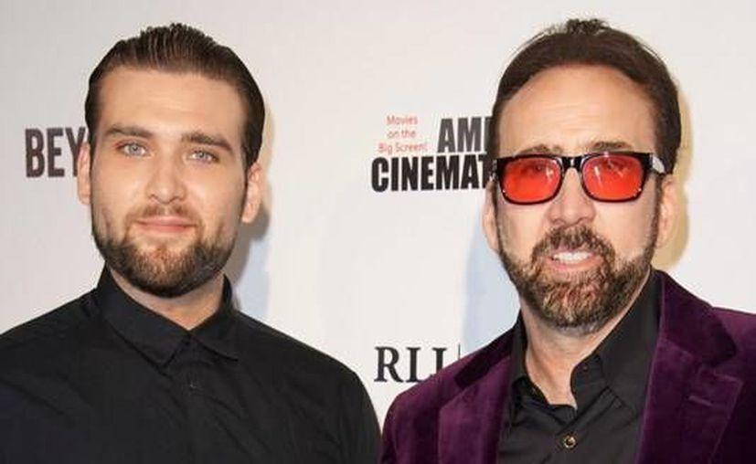 Weston Coppola Cage junto a su padre, el actor Nicolas Cage. (Imagen tomada de Kare 11)