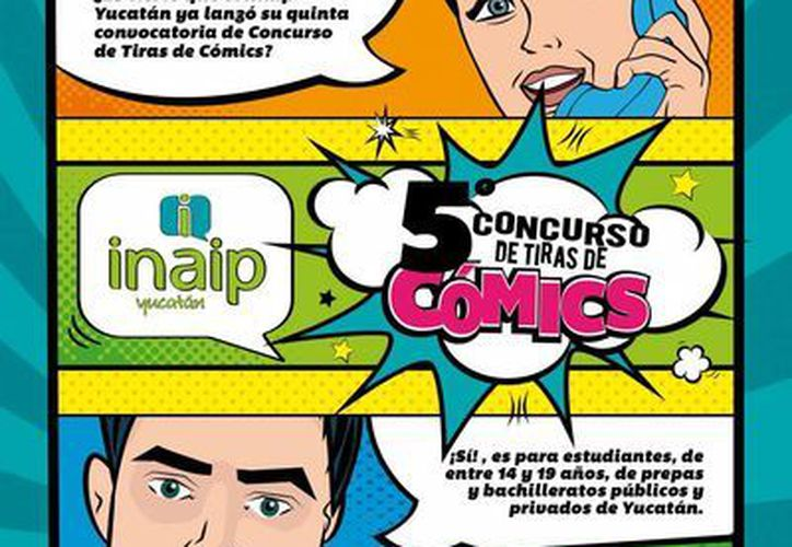 Este miércoles fue lanzada la quinta y cuarta edición, respectivamente, de los concursos de Tiras de Cómics y Cartel Universitario por la Transparencia, promovidos por el Inaip y dirigidos a universitarios. (Imagen cortesía)
