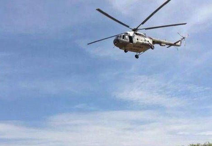 Los 10 helicópteros Schweizer S-333 servirán para reforzar las operaciones que realiza el instituto armado. Foto de contexto. (David Monroy/Milenio)