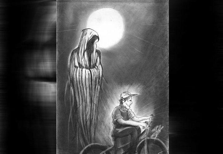 No sólo los fantasmas, también la Xtabay se sube a las bicicletas.(Jorge Moreno/SIPSE)