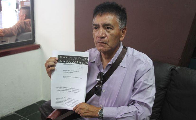 El documento consta de 140 páginas con un aproximado de 500 pruebas para ser desahogadas en esta Legislatura. (Joel Zamora/SIPSE)
