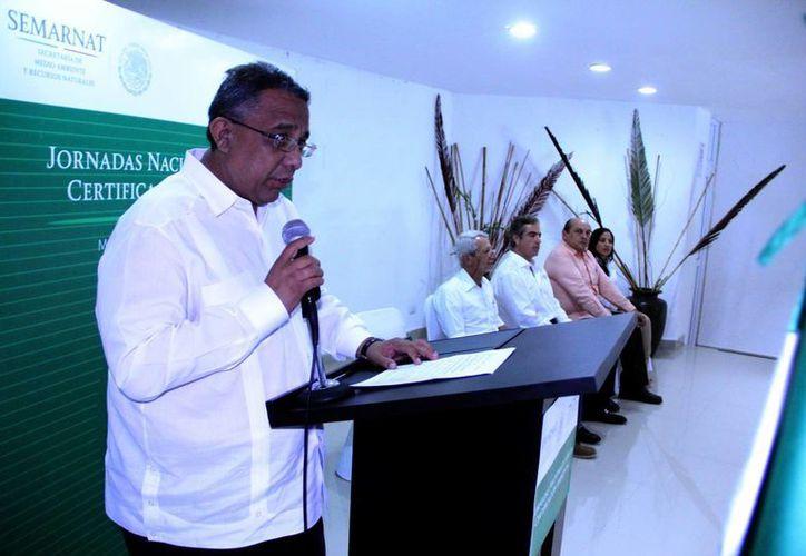 Mario Can Marín, presidente de la Canacintra en Yucatán, estuvo presente en la inauguración de la Jornada Nacional por la Industria Limpia. (SIPSE)