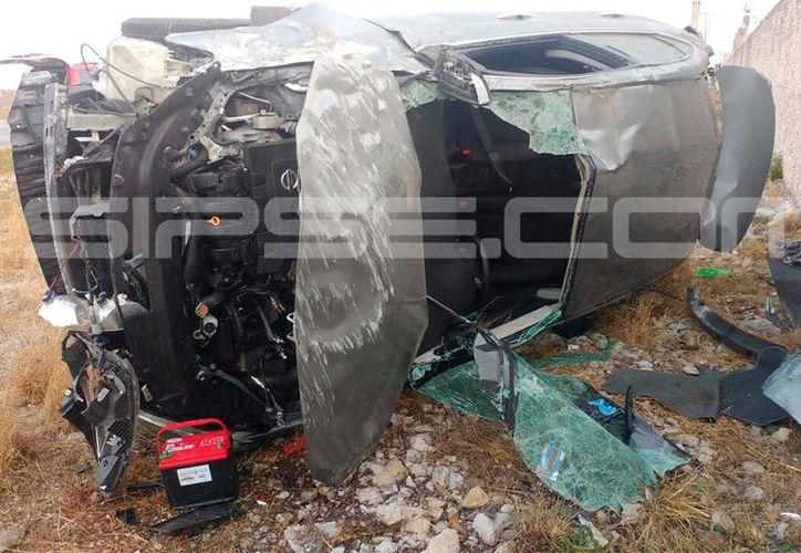 El accidente se registró esta mañana en la carretera Mérida-Progreso. (SIPSE)