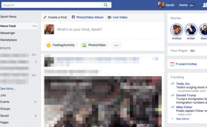 La versión de escritorio de Stories se encuentra en fase de prueba para un pequeño segmento de usuarios. (Facebook).