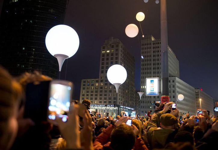 Celebración por el 25 aniversario de la caída del Muro de Berlín. (AP)