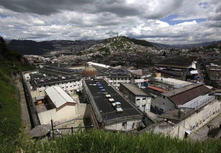 Vista panorámica de la Prisión García Moreno, localizada en el centro de Quito, la capital de Ecuador. (Agencias)