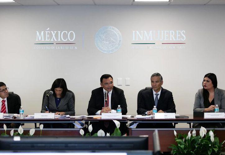 El gobernador Rolando Zapata Bello presidió este jueves la instalación y acuerdos de la Comisión para la Igualdad Sustantiva entre Niñas, Niños y Adolescentes. (Foto cortesía)