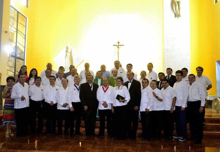 Los Caballeros de Colón celebraron 96 años de existencia en Mérida. (Fotos: Daniel Sandoval/SIPSE)