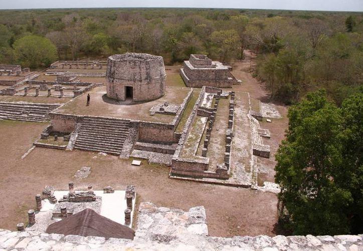 La zona arqueológica de Mayapán fue 'mapeada' con el escáner de un avión. (Milenio Novedades)