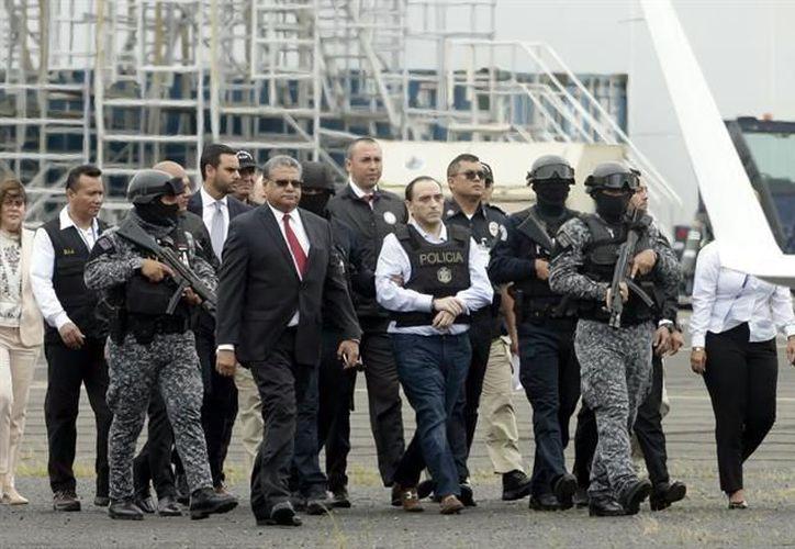 La Cancillería panameña, junto a personal de la Policía Nacional, coordinó el traslado de Borge. (Redacción)