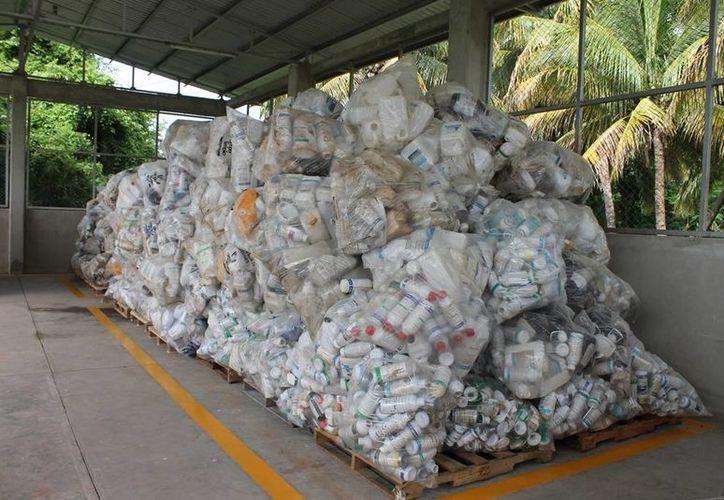 En un lapso de tres días se espera levantar de tres a cinco toneladas de plásticos. (Edgardo Rodríguez/SIPSE)