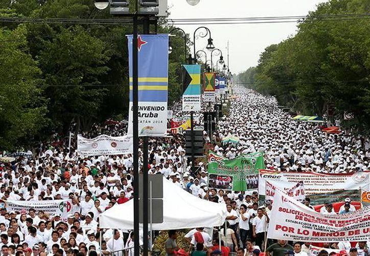 Líderes sindicales afinan detalles para la marcha con motivo del Día del Trabajo. (Milenio Novedades)