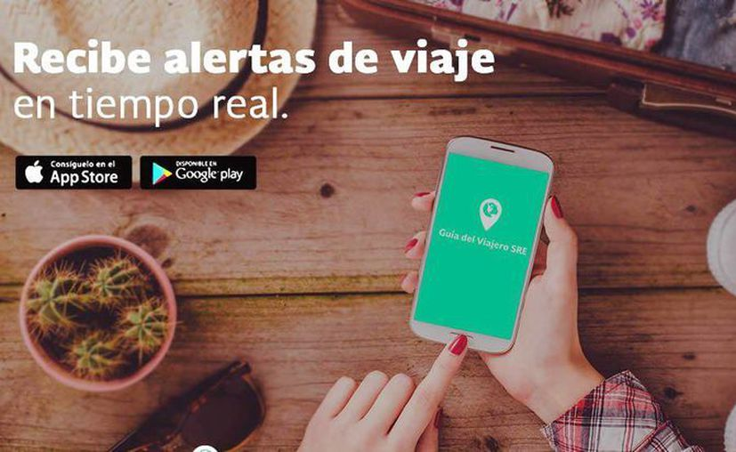 La aplicación 'Guía del Viajero' está disponible en iOS y Android de forma gratuita. (@SRE_mx)