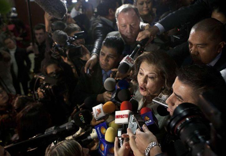 Ezequiel Elizalde e Isabel Miranda de Wallace salieron de la sala antes de que concluyera la sesión de la Corte. (Agencias)