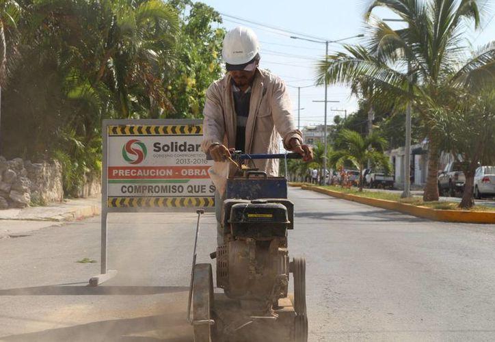 La construcción del nuevo palacio municipal quedarán pendientes, pues solamente se alcanzará a terminar, aseguró el Presidente Municipal. (Adrián Barreto/SIPSE)