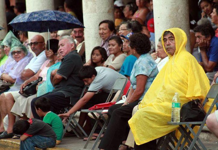 El domingo se registraron algunas lloviznas en Mérida. (SIPSE)