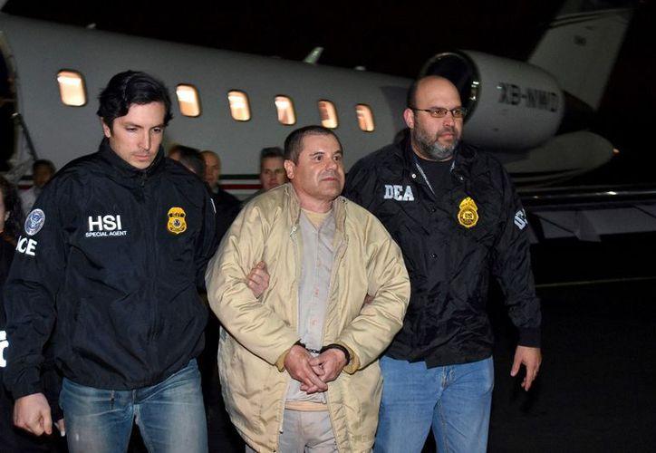 El Chapo se ha declarado no culpable de los 17 cargos de los cuales lo acusa Estados Unidos. (AP).