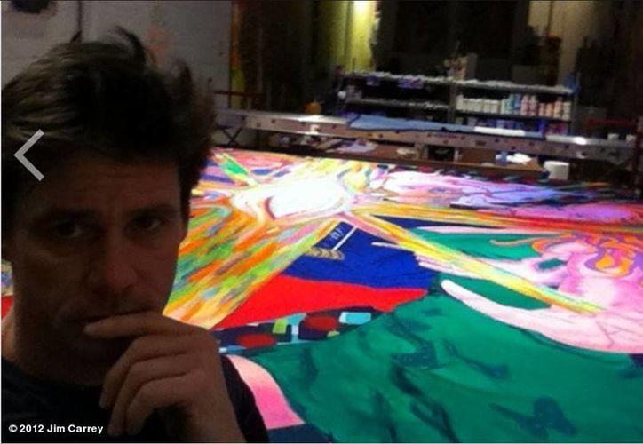 Carrey abrió en 2011 su propia galería de arte, en Nueva York, conocida como 'The Church of FFC'. (@JimCarrey)