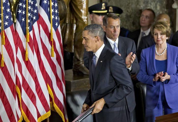 Obama no puede reducir gastos en defensa, como había propuesto. (Agencias)