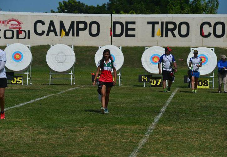 Imagen de los blancos en el campo de tiro con arco de La Inalámbrica. (Milenio Novedades)