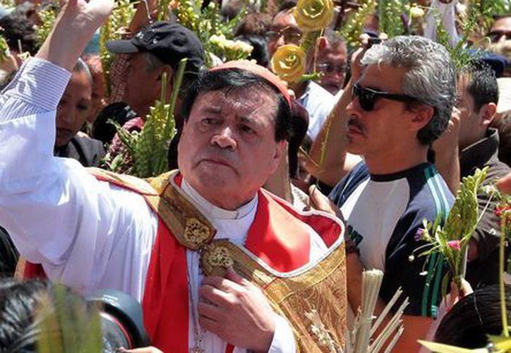 El cardenal Norberto Rivera Carrera agradeció a los fieles las oraciones durante el Cónclave. (Notimex)