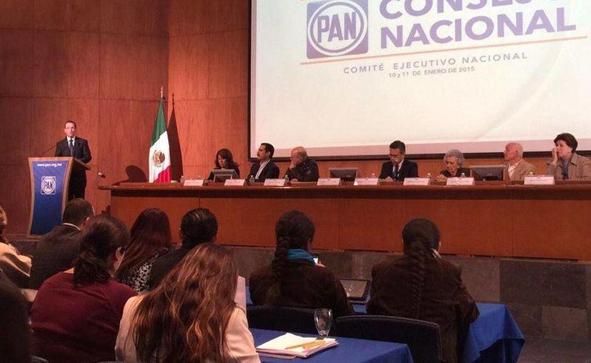 El comité nacional del PAN eligió esta noche la lista de candidatos a diputados plurinominales que propondrá a la convención nacional panista, que será la que determinará las listas finales. (Twitter/@RicardoAnayaC)