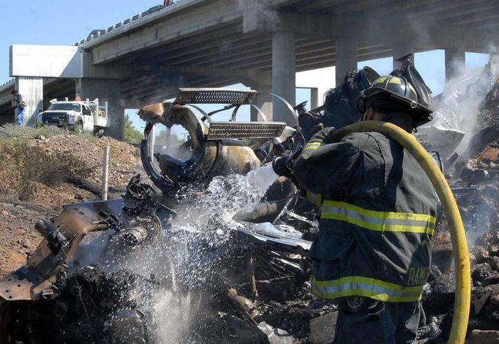 El accidente ocurrió en el kilómetro 172 de la carretera a Juárez. (Notimex)