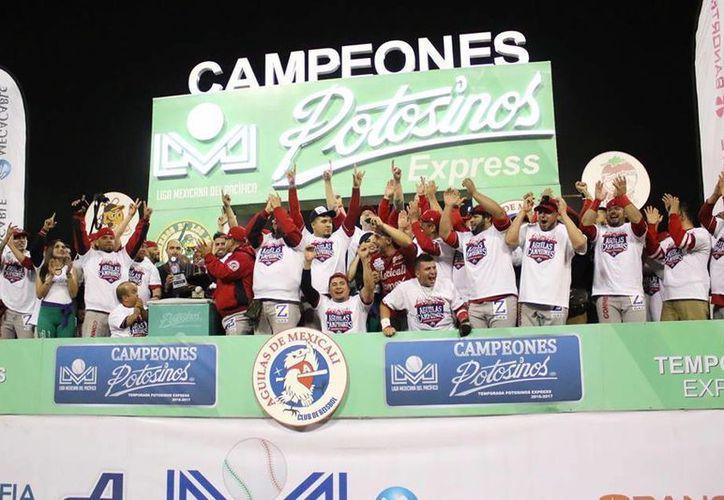 Las Águilas de Mexicali serán el equipo que represente a México en la Serie del Caribe 2017, tras vencer a Cañeros. (Facebook/ LMP)