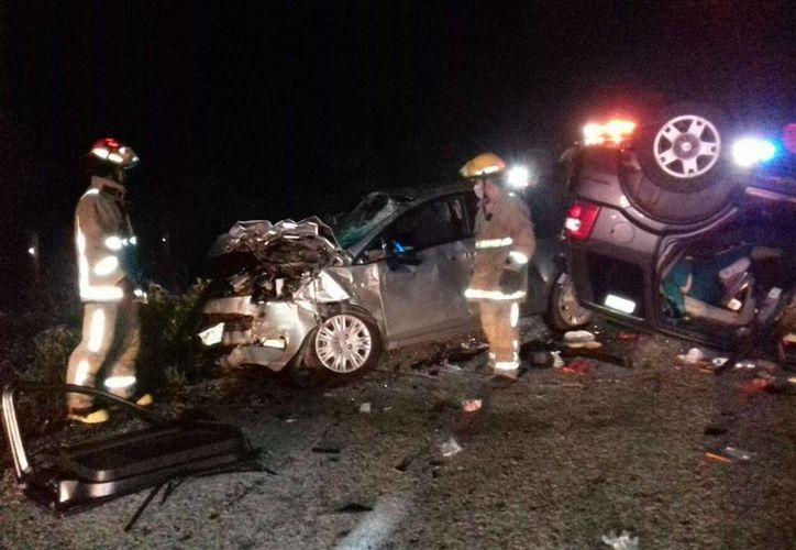 Un accidente mortal se registró en el tramo carretero Tulum-Felipe Carrillo Puerto, ayer cerca de las nueve de la noche. (Christian Novelo/SIPSE)