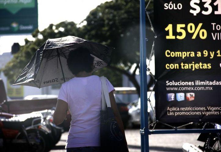 El calor prevalecerá en Mérida buena parte del día. (Theani Ruz/SIPSE)