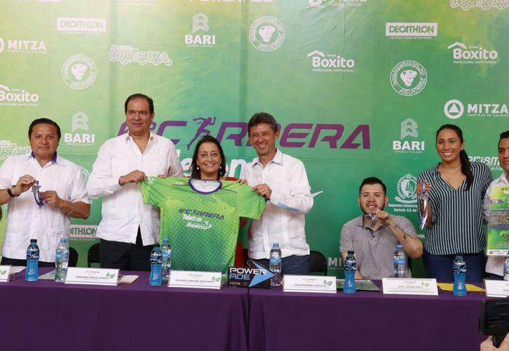 La presentación de la carrera se realizó este martes. (José Acosta/Milenio Novedades)