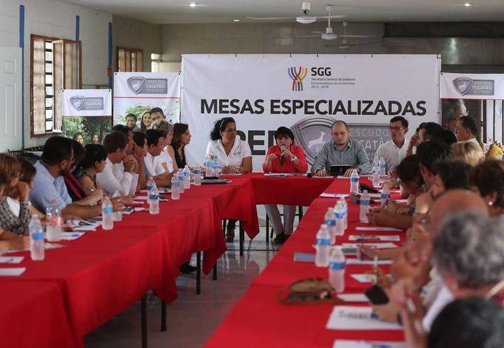 En el albergue de la Comunidad de Restauración Integral del Adolescente se realizó la cuarta reunión de la red Escudo Yucatán. (Foto cortesía del Gobierno estatal)