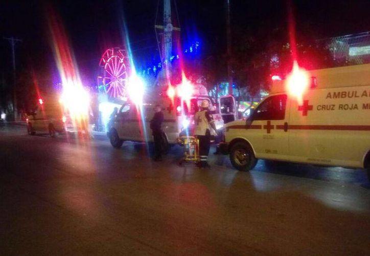 Ataque con arma de fuego se registró la noche de ayer en la feria. (Eric Galindo/SIPSE)