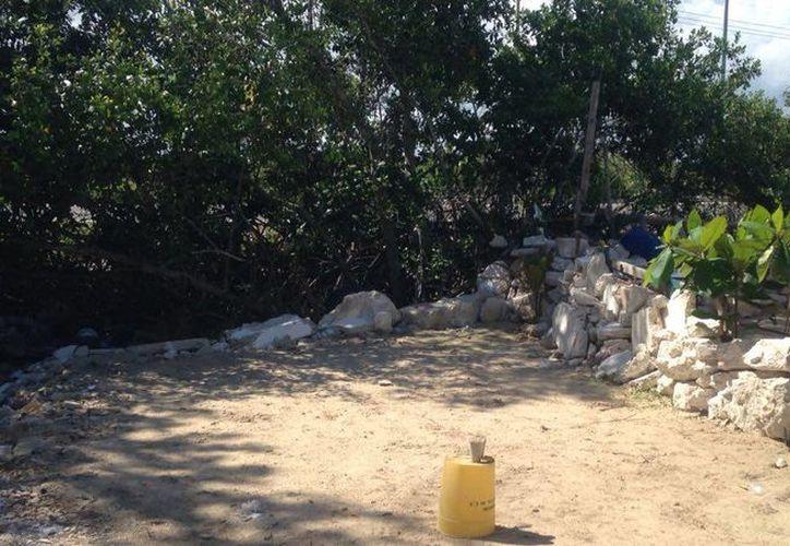 Las casas de los pobladores casi llegan a la carretera (libramiento) de Chicxulub, y están construidas prácticamente sobre la ciénaga. (Gerardo Keb/SIPSE)