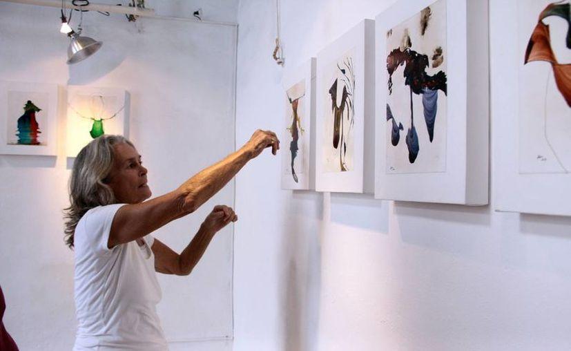 La exposición <i>Buscando los pedazos de mi ser</i>, de la artista argentina María Elena Alisio, presenta 25 cuadros de técnicas mixtas en la galería In La K'ech, en Mérida. (SIPSE)