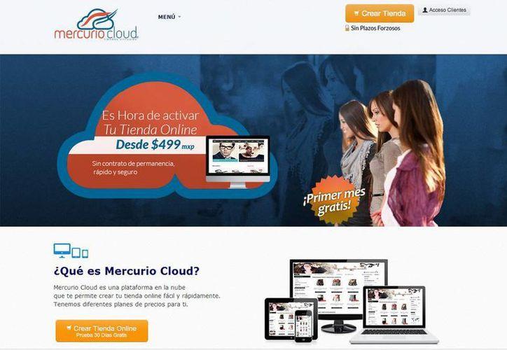 Mercurio Cloud es una plataforma que te permite crear tu tienda online fácil y rápidamente. Se puede registrar de forma gratuita. (Captura de pantalla)