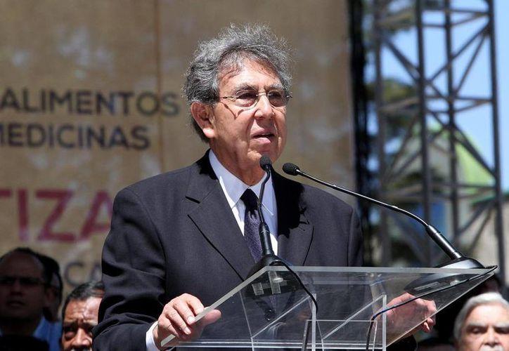Cuauhtémoc Cárdenas fue orador en la celebración del PRD por el 75 aniversario de la Expropiación Petrolera. (Notimex)