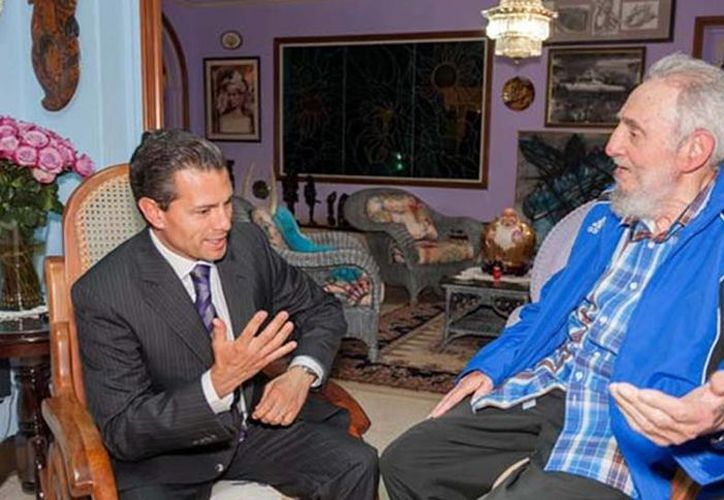En 2014, el presidente Enrique Peña Nieto tuvo una reunión con el expresidente Fidel Castro en Cuba. (Archivo/Agencias)