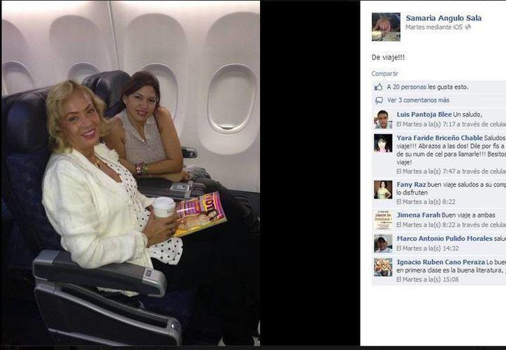 Las regidoras en un vuelo de primera clase. (Facebook)