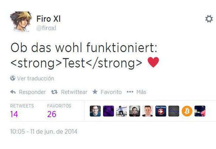Las etiquetas del tuit de Florian se reprodujeron sin autorización de miles de usuarios de Twitter. (Twitter.com/@firoxl)