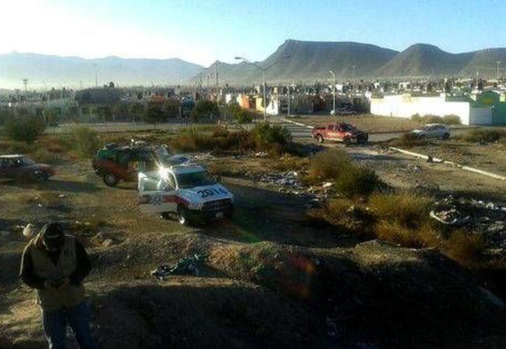 Imagen que publicó Protección Civil de Saltillo, sobre la zona en la que al parecer cayó un meteorito. (Twitter @SaltilloPC)