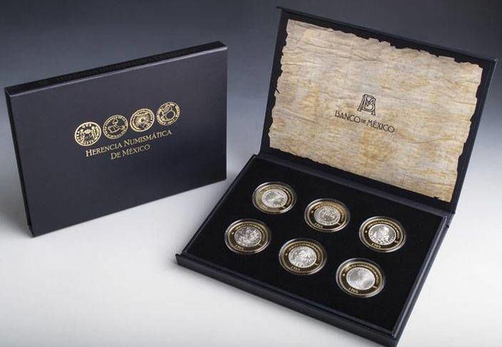 La colección Herencia Numismática de México  es la tercera serie de un total de 24 monedas. (banxico.org.mx)