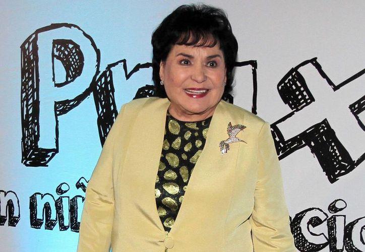 La actriz Carmen Salinas recibirá un reconocimiento especial por parte de la Agrupación de Críticos y Periodistas de Teatro, este 1 de abril. (Archivo Notimex)