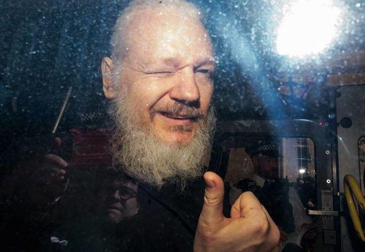 Julian Assange, fundador de Wikileaks, fue detenido  el 11 de abril pasado. (Getty)