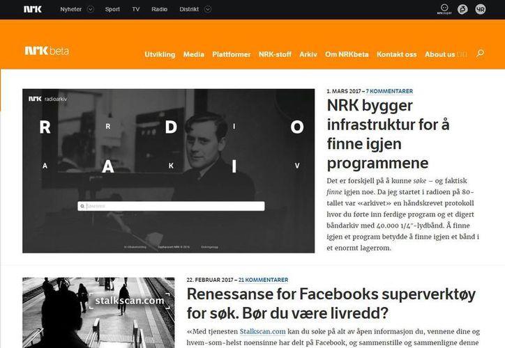 El experimento de NRKbeta tiene buenos resultados, según sus administradores. (Captura de pantalla)