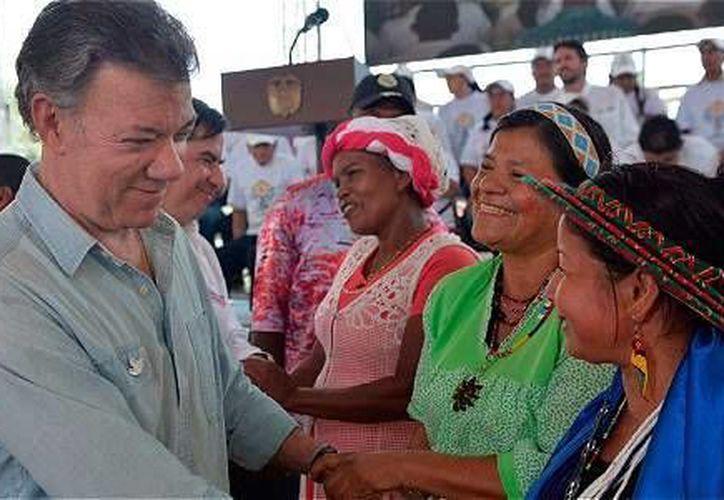 Juan Manuel Santos se disculpó en 2012 por la masacre de El Tigre. (Foto: Presidencia de Colombia)