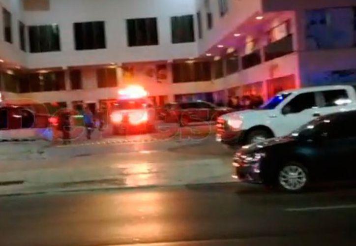 Los hechos ocurrieron minutos antes de las 23 horas de este miércoles, al interior de un gimnasio en la Supermanzana 13. (SIPSE)