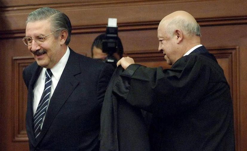 Luis María Aguilar Morales (i) finalmente fue designado presidente de la Suprema Corte de Justicia de la Nación en sustitución de Juan Silva Meza. (Notimex)