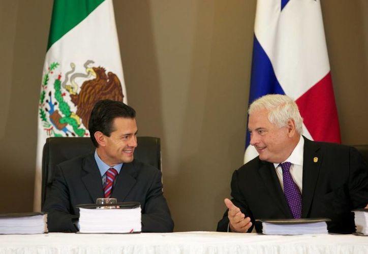 El nuevo tratato de libre comercio firmado por los presidentes Enrique Peña y Ricardo Martinelli, se dio en el marco del Foro Económico Mundial para América Latina. (presidencia.gob.mx)